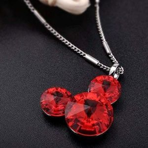 Red Mickey Mouse Necklace Pendant